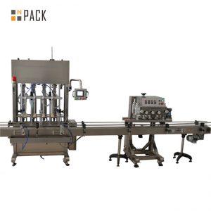Jadual atas pam peristaltik vial memfailkan dan mesin penyegel