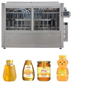 Servo Automatic Piston Type Sauce Honey Jam Kelikatan Tinggi Pengisian Liquid Capping Label Machine Line